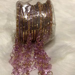 Jewelry - Indian bangles - lavender and gold